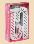 Holiday Rawhide Dog Treats Candy Canes (5.5 Inch; 10-Gift Box)